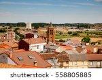 view of church belltower and...   Shutterstock . vector #558805885