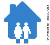 family house vector icon. flat...   Shutterstock .eps vector #558807265