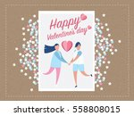 love for valentine's day. and... | Shutterstock .eps vector #558808015