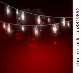 valentine's day background with ... | Shutterstock .eps vector #558810892