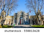 dolmabahce palace gate in... | Shutterstock . vector #558813628