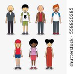 multicultural people avatars... | Shutterstock .eps vector #558820285