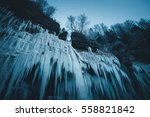 Icicles Of Frozen Waterfall ...