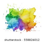 colorful watercolor stain...   Shutterstock . vector #558826012
