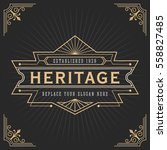 vintage line frame design for... | Shutterstock .eps vector #558827485