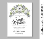 wedding invitation floral... | Shutterstock .eps vector #558834322