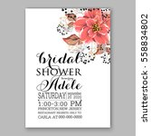 wedding invitation floral... | Shutterstock .eps vector #558834802