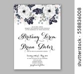 wedding invitations with... | Shutterstock .eps vector #558836008