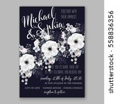 wedding invitations with... | Shutterstock .eps vector #558836356