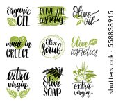 vector hand lettering olive... | Shutterstock .eps vector #558838915