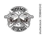 helmet motocross design vector... | Shutterstock .eps vector #558840142