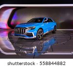 Small photo of DETROIT, MI/USA - JANUARY 12, 2017: An Audi e-tron Q8 Concept SUV at the North American International Auto Show (NAIAS).