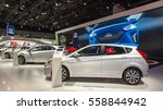 Small photo of DETROIT, MI/USA - JANUARY 10, 2017: Hyundai Accent car and marque exhibit at the North American International Auto Show (NAIAS).