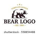 bear logo   vector illustration ... | Shutterstock .eps vector #558854488