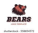 bears logo   vector... | Shutterstock .eps vector #558854572