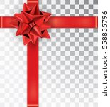 ribbon tied in the top right... | Shutterstock .eps vector #558855796