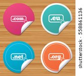 round stickers or website... | Shutterstock .eps vector #558861136