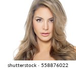 beautiful caucasian woman with... | Shutterstock . vector #558876022