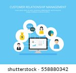 customer relationship... | Shutterstock .eps vector #558880342