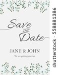 wedding invitation card suite... | Shutterstock .eps vector #558881386