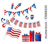 4th july set | Shutterstock .eps vector #55888333