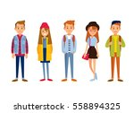 set of young  people | Shutterstock .eps vector #558894325