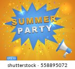"megaphone with ""summer party""... 