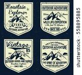 mountain vintage logos  emblems ... | Shutterstock .eps vector #558895885