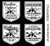 mountain vintage logos  emblems ... | Shutterstock .eps vector #558895912