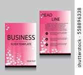 vector brochure flyer design... | Shutterstock .eps vector #558896338