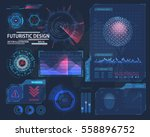 futuristic interface hud design ...