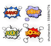 oops and boom  bang and boom... | Shutterstock .eps vector #558896776