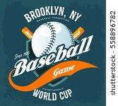 baseball ball and bats on...   Shutterstock .eps vector #558896782