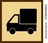 truck vector icon. van car | Shutterstock .eps vector #558898882