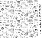 seamless pattern hand drawn... | Shutterstock .eps vector #558903535
