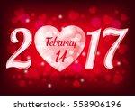 valentine's day card  banner ... | Shutterstock .eps vector #558906196
