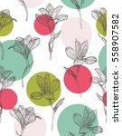 seamless floral pattern.... | Shutterstock .eps vector #558907582