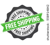 free shipping stamp  sticker ... | Shutterstock .eps vector #558914842