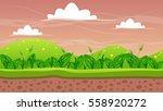 seamless natural game landscape ... | Shutterstock .eps vector #558920272
