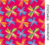 vivid unusual seamless pattern... | Shutterstock .eps vector #558922612