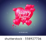 valentine s day set   labels... | Shutterstock .eps vector #558927736
