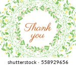 floral wreath created with... | Shutterstock .eps vector #558929656