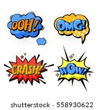 cartoon comic speech replicas... | Shutterstock .eps vector #558930622