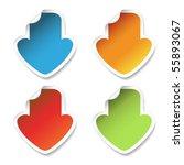 vector download stickers with... | Shutterstock .eps vector #55893067