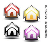 vector buttons of home   Shutterstock .eps vector #55893070