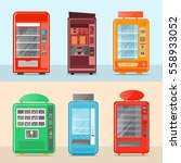 vending machine set isolated... | Shutterstock .eps vector #558933052