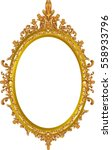 round photo frame  metal gold ... | Shutterstock .eps vector #558933796
