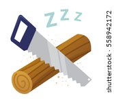 vector stock of log sawing ... | Shutterstock .eps vector #558942172