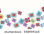 gift box on color background | Shutterstock . vector #558949165