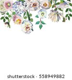 pastel floral drop frame hand... | Shutterstock . vector #558949882